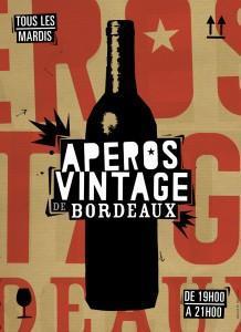 apéro vintage de Bordeaux_affiche