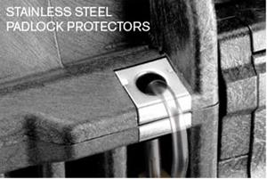 stainless padlock protectors
