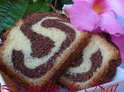 bi-color gâteau marbré.