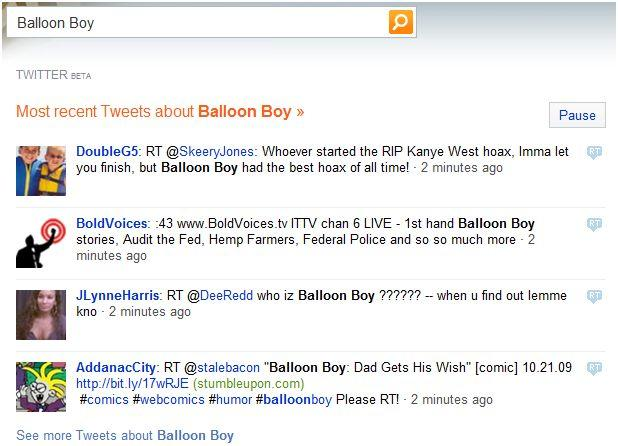 Tweets Balloon Boy