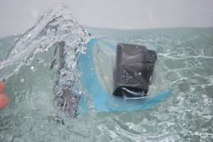 L'aquapac 445 en train de flotter