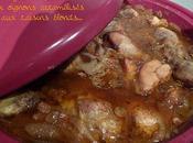 Tajine poulet oignons caramélisés