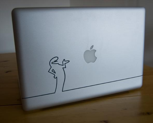 materiel  Sticker Macbook La linea by Stickair