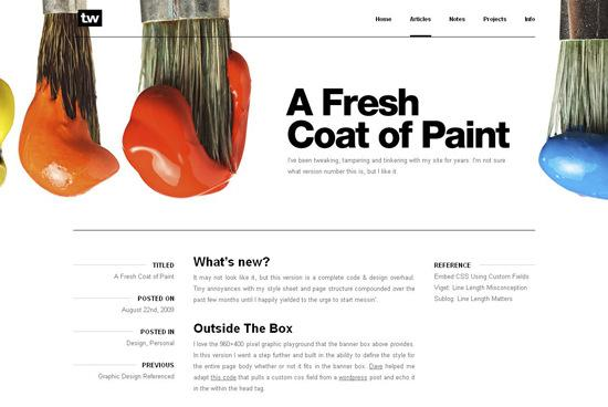 TW in 50 Beautiful and Creative Blog Designs