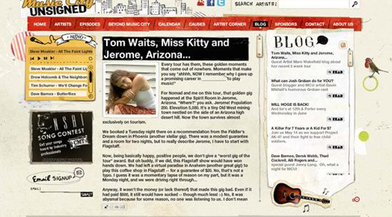 Music-city in 50 Beautiful and Creative Blog Designs