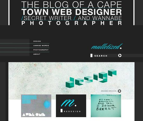 Mulletized in 50 Beautiful and Creative Blog Designs