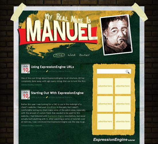 Manuel in 50 Beautiful and Creative Blog Designs