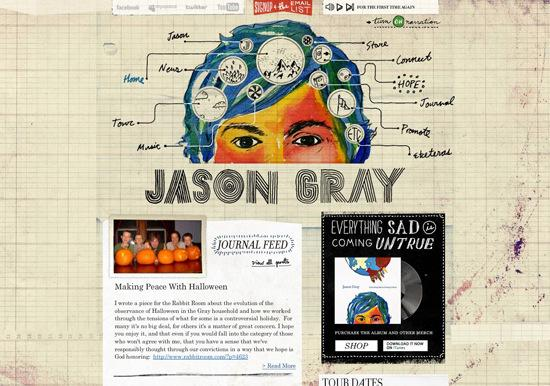 Jason-gray in 50 Beautiful and Creative Blog Designs