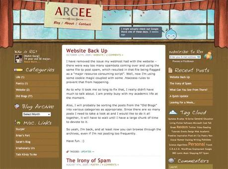 Argee in 50 Beautiful and Creative Blog Designs