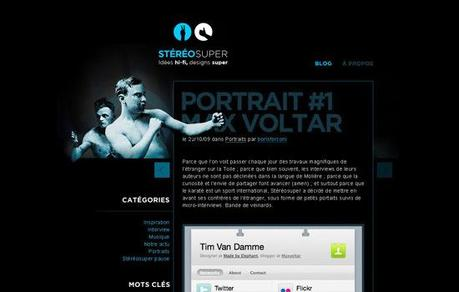 Stereo-super in 50 Beautiful and Creative Blog Designs