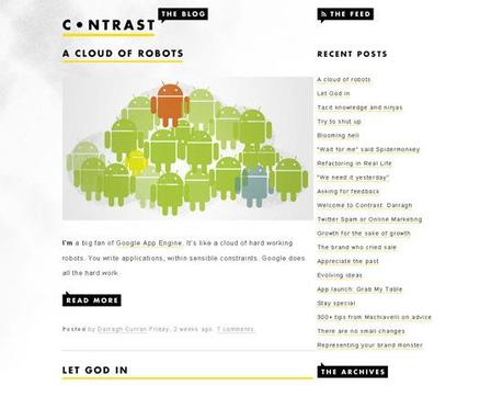 Contrast in 50 Beautiful and Creative Blog Designs