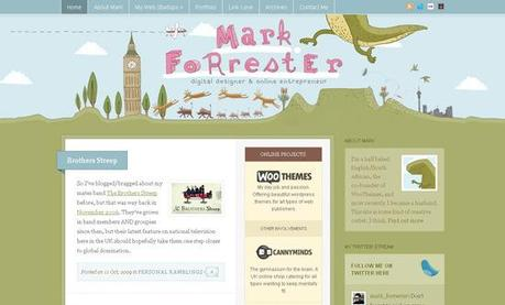 Forrester in 50 Beautiful and Creative Blog Designs