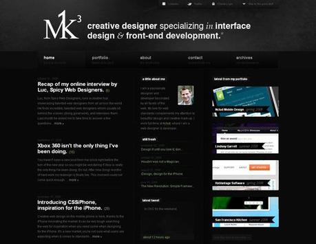 Mk3 in 50 Beautiful and Creative Blog Designs