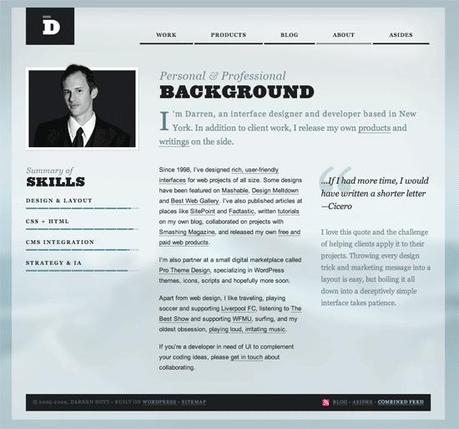 Hoyt in 50 Beautiful and Creative Blog Designs
