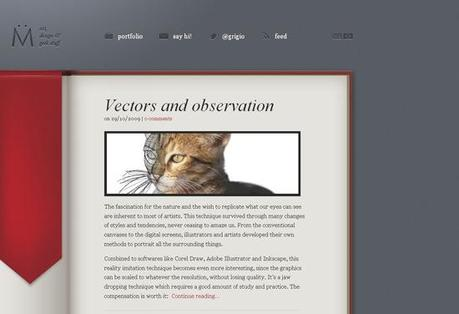 Muller in 50 Beautiful and Creative Blog Designs