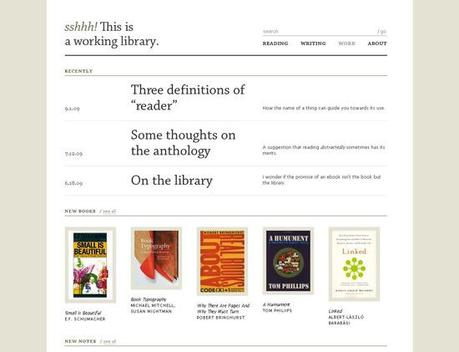 Working-library in 50 Beautiful and Creative Blog Designs