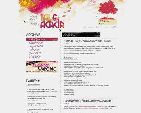 Tal Amp Acacia in 50 Beautiful and Creative Blog Designs