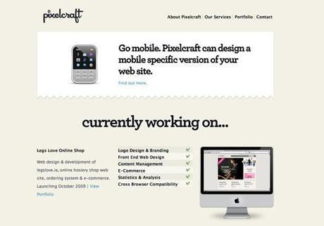 clean minimalist web design