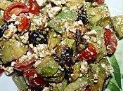 Salade composée (avocat, tomate, feta).
