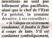 Sarkozy caustique: Villepin condamné, faudra finir coup latte
