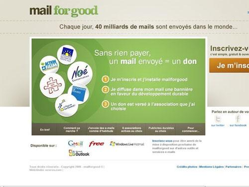 Mail for Good : un mail = un don