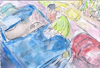 accident de la circulation le constat amiable dessin aquarell lire. Black Bedroom Furniture Sets. Home Design Ideas
