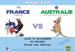 Affiche France - Australie Junior