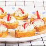 Bouchées de Ratte du Touquet à la mousse de hareng citronnée