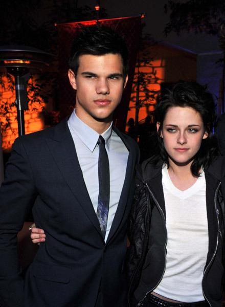 Taylor Lautner, Kristen Stewart et Robert Pattinson à l'after party New Moon
