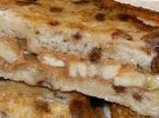 Sandwichs pain doré bananes