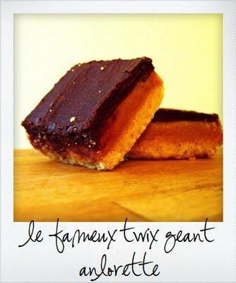 La fameuse recette des twix géants ou Millionaire's shortbread