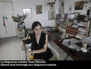 Obama félicite Yoani Sanchez