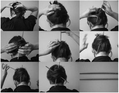 Accessoire cheveux original : les baguettes chinoises | À Voir