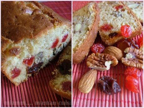 Cake au fromage blanc & aux fruits secs