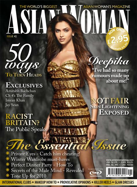 Deepika Padukone Asian Woman Magazine