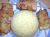 Brochettes poulet sésame