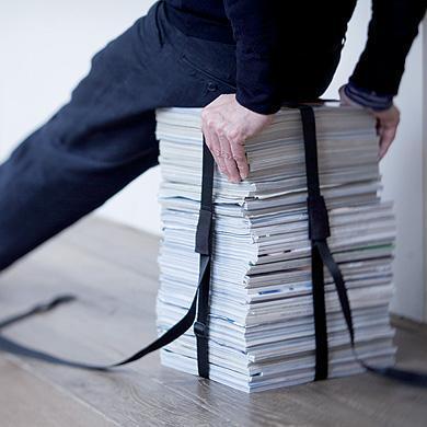 Tabouret sangle Book Stool, 22,90€