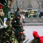Fira de Santa Llucia delante de la Catedral