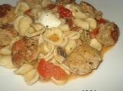 Orecchiette boulettes veau, champignons, tomates cerises mozzarella