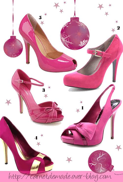 selection chaussures pink