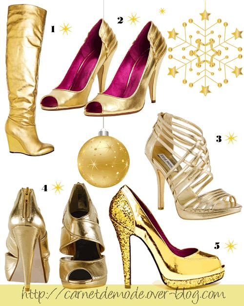 selection chaussures gold