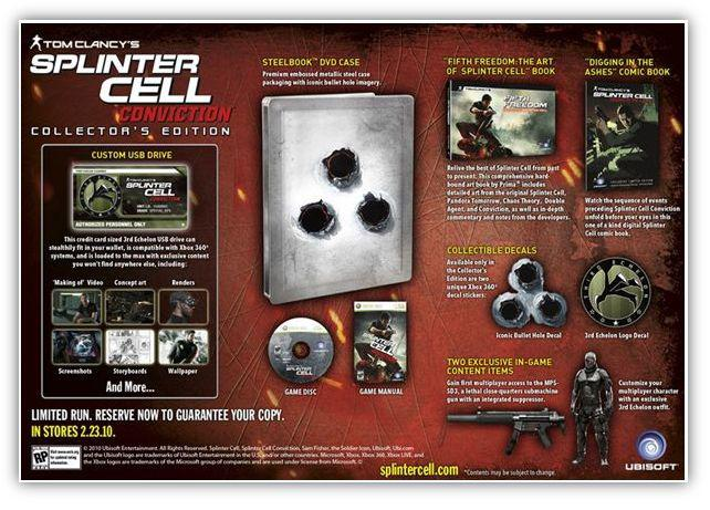 [en attente] COFFRET COLLECTOR SPLINTER CELL CONVICTION