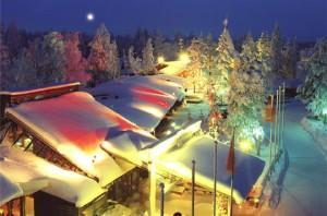 Nuit sur le Village du Père Noël