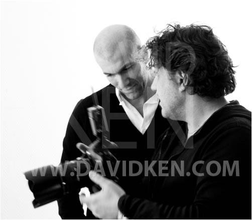 David Ken backstage shooting Ela