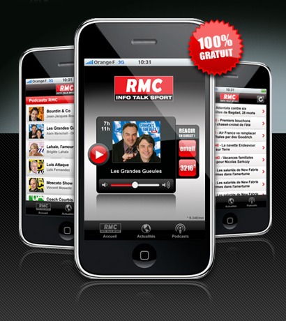Dailymotion et RMC sur iPhone/iPod Touch !!!