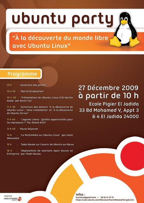 Ubuntu Install Party a El-Jadida le programme