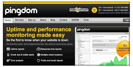 Pingdom Web site monitoring for 100% uptime. Measure your downtime