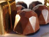 Chocolats lait fourrés ganache vanillée marrons glacés