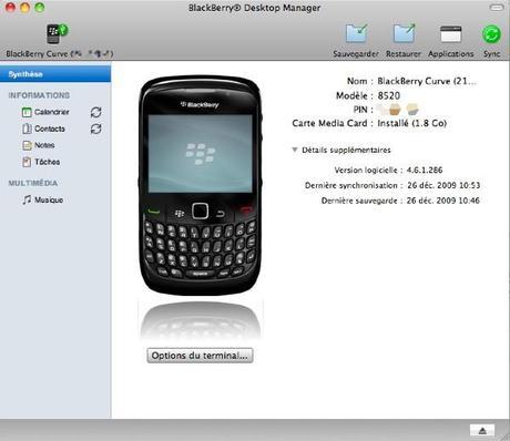 Premier pas avec un Blackberry Curve 8520