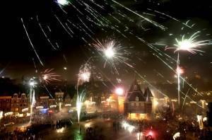Nouvel An 2010 - Feux d'artifices et Champagne
